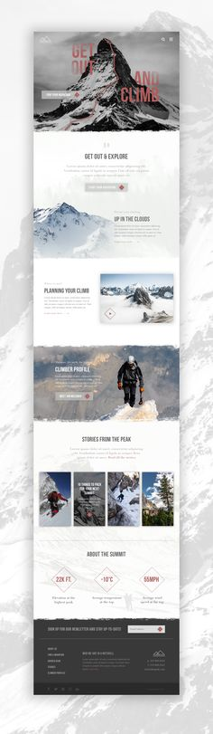 Mountaineering Website Concept