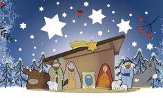 """Maria und Josef, Ochse, Esel, der Engel und die Hirten – alle machen sich auf den Weg nach Bethlehem. Mit unserer Vorlese-Geschichte könnt ihr sie begleiten. """"Es begab sich aber …"""