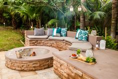 Firepits are attractive, functional and provide an outdoor area that's perfect for socialising. Here& how to build your own firepit. Decor, Outdoor Decor, Building A Deck, Outdoor Living, Wooden Pergola, Diy Deck, Fire Pit, Deck Design, House Deck