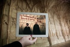 Gloucester Cathedral Harry Potter and the chamber of secrets - Fangirl Quest scene framing