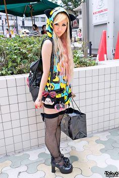 Monchhichi Bag & Eyeball Bow in Harajuku