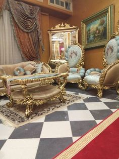 Royal Furniture, Salon Furniture, Victorian Furniture, Luxury Furniture, Furniture Design, Classic Sofa, French Classic, Home Design Decor, Interior Design