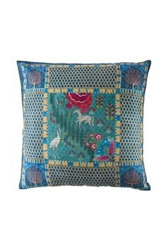 Registan Bagh Dupion Silk Cushion