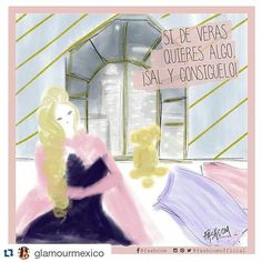 New comic for @glamourmex  •  If you really want something, go and get it • #instaquote #comic #girlpower #inspiration #fashcom #fashionillustration #gogetit #glamour #fashioncomic