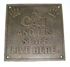 A Cat and its staff live here.