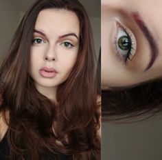 Natural makeup and Red brows