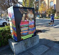 Walnut Creek: Public art dresses up faceless utility boxes downtown Urban Street Art, 3d Street Art, Street Art Graffiti, Urban Art, Graffiti Artists, New York Graffiti, Girl Scout Activities, Sidewalk Chalk Art, Graffiti Lettering
