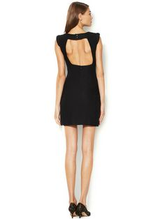 MACKAGE - Sheath Dress with Architectural Shoulder