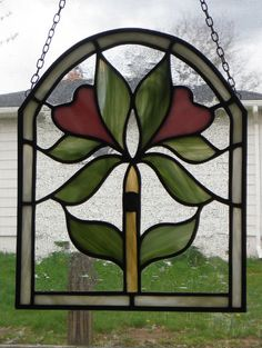 Victorianstyle Stained Glass panel one of a kind by CleomesCottage