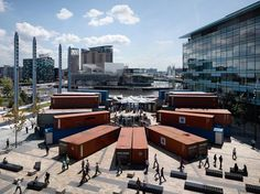 SHIPPING CONTAINERS! Music Boxes installation by BDP Architects, Manchester exhibit design