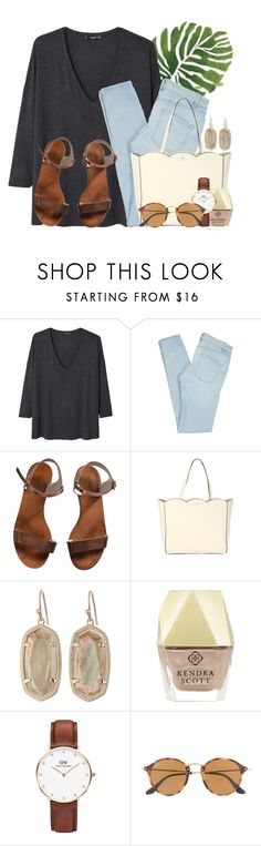 """""""TaG in the Description!!"""" by flroasburn ❤ liked on Polyvore featuring MANGO, Marc by Marc Jacobs, Emporio Armani, Kate Spade, Kendra Scott, Daniel Wellington and Ray-Ban"""