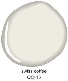 #BenjaminMoore Swiss Coffee OC-45