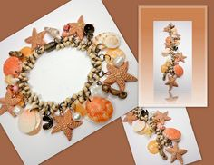 polymer clay Starfish & shell bracelet