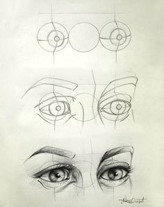 Eye Drawing Tips - I love how quickly this escalates. Its like: well first ya got yer guidelines here, thosell help ya get started. Then yer gunna wanna sketch up a rough version of what yer g? 3d Drawings, Pencil Drawings, Drawing Faces, Drawings Of Love, Creepy Drawings, Pencil Sketching, Girl Drawings, Sketching Tips, Creepy Art