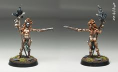 Yrsa the Accursed - Click Image to Close Dragon Miniatures, 28mm Miniatures, Fantasy Miniatures, Warhammer Fantasy, King Kong, Popup, Small World, Small Groups, Elves