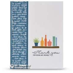 CARD: Thank you friend card from the Bookcase Builder Set   Stampin Up Demonstrator - Tami White - Stamp With Tami Crafting and Card-Making Stampin Up blog