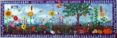 Bay View Elementary School Mural, Our Garden School Murals, Art School, Sunday School, Class Decoration, School Decorations, Santa Cruz California, California Usa, Kids Wall Murals, Dream School