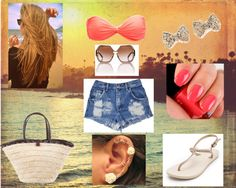 """""""Beach *.*"""" by escuriinha ❤ liked on Polyvore"""