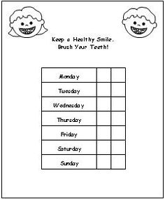 tooth brushing chart | Health and Safety Preschool ...