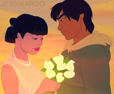 """""""Thanks For The Flowers."""" - disney-crossover Photo"""