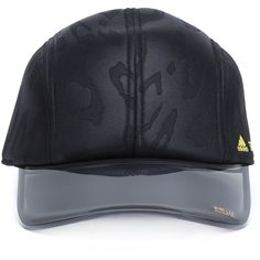 Adidas By Stella Mccartney 'Run' baseball cap (52 AUD) ❤ liked on Polyvore featuring accessories, hats, black, polyester hat, ball cap hats, baseball cap hats, adidas and adidas hats