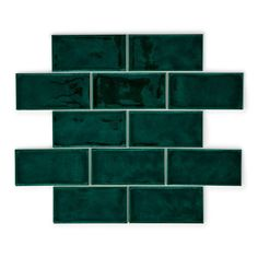 With their deep green tones and antique-y finish, these tiles have a handmade charm about them. Perfect if you love a bit of period style.