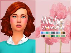Nolan Sims here. My sister really loved Sims 2 and it's CC. Now that she's started playing Sims 4, I wanted to bring her favorite eye set to it as well! So, I converted the eye textures by Mina M....