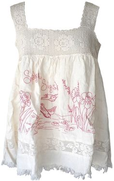 Magnolia Pearl: Homemade biscuit embroidered Sipsey Tank