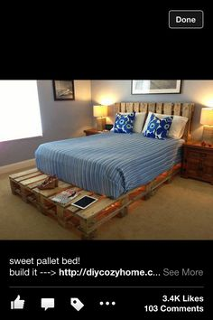 Bed made out of pallets !