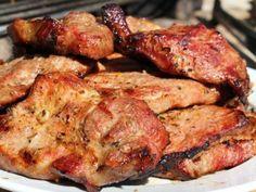 """Mojo""-ban pácolt tarja grillezése Grilling Recipes, Cooking Recipes, Food 52, Tandoori Chicken, Barbecue, Bacon, Recipies, Pork, Dishes"