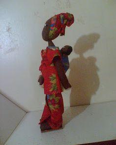 Olhos de Leoa: Boneca de pano africana