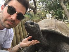 I got to hang out with this guy yesterday! A 55-year-old Galapagos tortoise! crazy thing was how much he liked his necked rubbed!