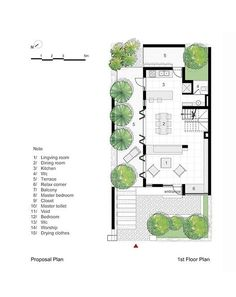 Casa EPV,Planta propuesta - primer piso
