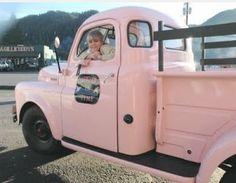vintage pink truck! let's go!!!