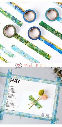 Paint your journal with these Van Gogh inspired washi tapes. Washi Tape Crafts, Washi Tapes, School Accessories, Van Gogh Paintings, Pencil Pouch, Sticky Notes, Vincent Van Gogh, School Supplies, Bujo