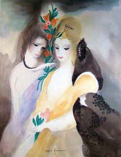 (France) by Marie Laurencin oil on canvas. Women Artist, Art Eras, Georges Braque, Fauvism, Art Moderne, Art Graphique, Art Studies, French Artists, Lovers Art
