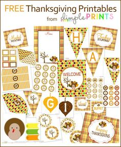 Kinser Event Company: HUGE Thanksgiving DIY Printable Package {FREE}