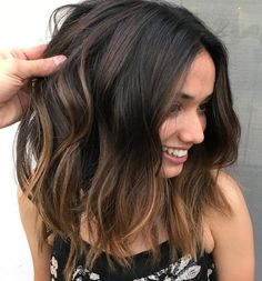 Subtle Caramel Balayage For Brunettes
