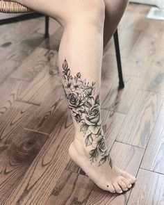 37 Fantastic Leg Tattoo Ideas – Page 5 of 8 – 123 Tattoos …. - tattoo feminina - 37 Fantastic Leg Tattoo Ideas Page 5 of 8 123 Tattoos . Tattoo Calf, Ankle Foot Tattoo, Wrap Tattoo, Rose Tattoo Foot, Leg Sleeve Tattoo, Ankle Tattoo Designs, Calf Tattoo Women, Floral Foot Tattoo, Flower Tattoo Designs