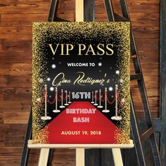Self-Edit Template Printable Hollywood Welcome Sign, VIP Pass Hollywood Red Carpet Sweet 16 Birthday Welcome Sign, Welcome Poster Hollywood Sweet 16, Hollywood Red Carpet, Hollywood Theme, Vip Pass, Kids Party Decorations, Party Themes, Ideas Party, Hollywood Party Decorations, Sweet 16 Birthday