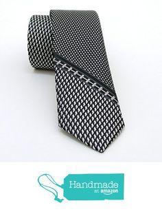 "Grey, black and white dotted men's tie 5,5 cm (2,17"") SL-021 from Nazo Design… #handmadeatamazon #nazodesign"
