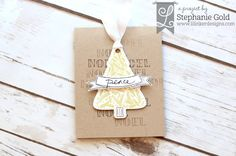 by Stephanie Gold for Lil Inker Designs christmas card rustic christmas - golden simplicity