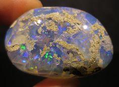 Ethiopian Welo Blue Opal  Natural Gemstone by BimBamNation on Etsy, $290.00