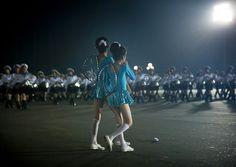 Few minutes before the show - Arirang Pyongyang North Korea  © Eric Lafforgue