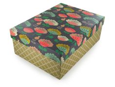 3 jolies boites de rangement carton Mini Labo, Atomic Soda, fleurs