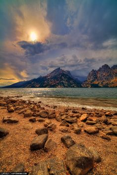 Jenny Lake at the Grand Tetons--what a beautiful view. #endorsed Photo by Kim Seng