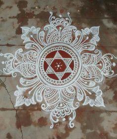 RANGOLIII Rangoli Borders, Rangoli Border Designs, Small Rangoli Design, Colorful Rangoli Designs, Kolam Rangoli, Beautiful Rangoli Designs, Mandala Design, Mandala Art, Rangoli Designs Latest