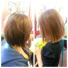 Mother & daughter hair cuts
