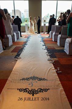 White Aisle Runner Wedding Isle Runner Ceremony Decoration Wedding Decor Monogram Runner Custom 100 Ft