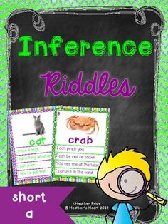 Students will practice inferring with short a word riddles in this interactive packet that will engage young readers in this hands-on comprehension and critical thinking skills practice. Reading Activities, Educational Activities, Teaching Reading, Guided Reading, Teaching Kids, Comprehension Strategies, Reading Comprehension, Word Riddles, Ell Students